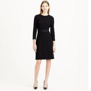 J. CREW Double Faced Wool Crepe Dress Black {JJ9}